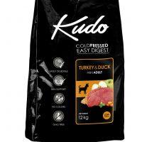 Храна за кучета Kudo Low Grain Turkey/Duck Mini Adult от дребни породи над 1 год – 3 кг