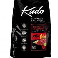 Храна за кучета Kudo Low Grain Red Meat Medium-Maxi Adult от средни и ерди породи над 1 год, говеждо и свинско – 3 кг