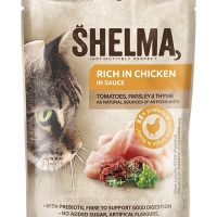 Shelma паучове за котки, пиле, домати, билки, 28×85гр