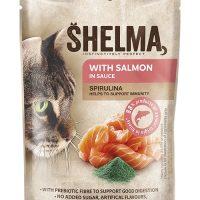 Shelma паучове за котки,сьомга, спирулина , 28×85гр
