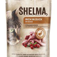 Shelma паучове за котки,  патица, червена боровинка, 28×85гр