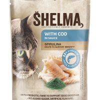 Shelma паучове за котки,риба треска, спирулина, 28×85гр