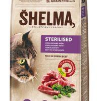 Shelma гранулирана храна за кастрирани котки с говеждо – 8 кг