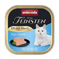Animonda –Vom Feinsten Mild Menu – 100гр кастрирани котки – пуйка + пъстърва