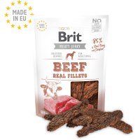 Brit Jerky Snack-Beef and chicken Fillets – лакомство за кучета филенца говеждо и пилешко -80 гр