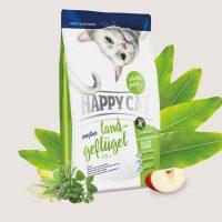 Happy Cat Sensitive Органично Пилешко – подходяща за дългокосмести и родословни котки – 4 кг