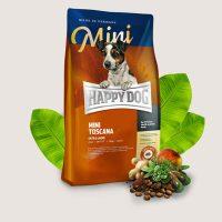 Храна за кучета Happy Dog Mini Toscana с патешко- здравословна диета при особено чувствителни кучета от дребни породи – 1 кг