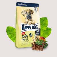 Храна за кучета Happy Dog Giant Junior Lamb & Rice – храна за малки кученца. XL- крокети със сърцевидна форма за кученца от гигантски породи-4 кг