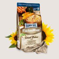 Храна за кучета Happy Dog Flockenmixer cereal flakes – Допълваща храна за смесване с месо. С 5 вида зърнени съставки, зеленчуци и средиземноморски билки – 3 кг