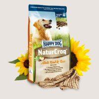 Премиум храна за кучета – Happy Dog Natur Croq Говеждо с ориз -храна за кучета със средно високи енергийни потребности. Лесно смилаема, подходяща за всички породи кучета – 1 кг