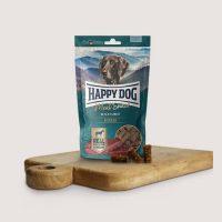 Бисквитки за кучета Happy Dog Снакс месо Черна гора – Конско – 75 гр