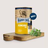 Храна за кучета Happy Dog 100% месо от  кенгуру, без соя, оцветители, зърнени продукти, консерванти. – 400 гр