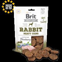 Brit Jerky Snack – Rabbit Meaty coins – лакомство за кучета месни кръгчета със заешко 80 гр