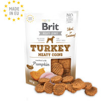 Brit Jerky Snack – Turkey Meaty coins – лакомство за кучета месни кръгчета с пуешко 80 гр