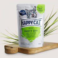 Happy Cat Adult – месо в сос, агнешко и черен дроб – 85гр