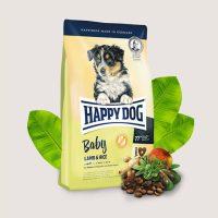 Happy Dog Baby Lamb & Rice- храна за кученца от 4-седмична до 6-месечна възраст включително -4 кг