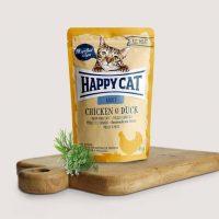 Happy Cat Adult – с пилешко и патешко- 85гр.