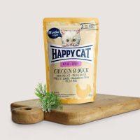 Happy Cat Junior – за малки котенца с пилешко и патешко- 85гр