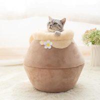 Легло-къщичка за котки или малки кучета  Размери  40X30X18CM