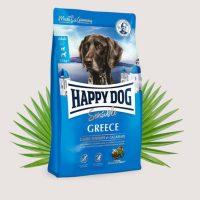 Храна за кучета Happy Dog Sensible Greece – Агнешко, скариди и калмари Основна храна за израснали кучета с тегло над 11 кг и нормална потребност от енергия- 2,8 кг