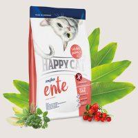 Happy Cat Sensitive Ente – храна за котки с патешко – подходяща за дългокосмести и родословни котки- 4 кг