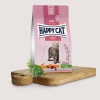 Хепи Кет Кулинари Джуниър патешко – хранаЗа котета на възраст от 5 седмици до 12 месеца с патешко месо без зърнени съставки – 4 кг