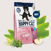 Храна за малки котета F&W HAPPY CAT JUNIOR GRAIN–FREE /Без зърнени съставки/ с Патешко – за котета от 5 седмици до 12 месеца – 10 кг