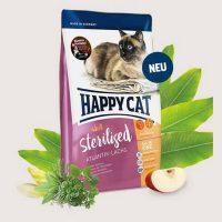 Храна за котки Happy Cat за Стерилизирани котки с Атлантическа сьомга – 10 кг