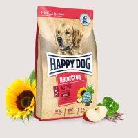Храна Happy Dog за спортни кучета ,подходяща особено за кърмещи и бременни кучета от 6-та седмица на бременността, за малки и по-големи кучета от едри породи от 4-5 месец  – Nature Croq Active – 15 кг