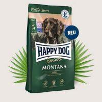 Храна за кучета Happy Dog Супер Премиум Монтана – Supreme Sensitive Montana-С конско месо, за чувствителни и капризни кучета от средни и големи породи. Без зърнени продукти – 1 кг