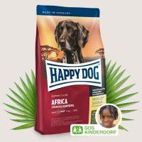 Храна за кучета Happy Dog Супер Премиум Африка Щраус & Картофи- Supreme Africa- за кучета с хранителна непоносимост – 1 кг