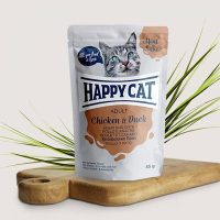 Happy Cat Adult – месо в сос, пиле и патица –  85гр.