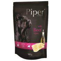 Piper пауч – премиум консервирана храна за кучета –  говеждо шкембе – 500 гр