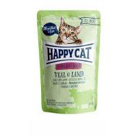 Happy Cat Pouch   – пауч за стерилизирани за котки с телешко и агнешко- 85гр
