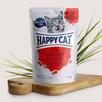 Happy Cat Adult – месо в сос, телешко и черен дроб-  85гр