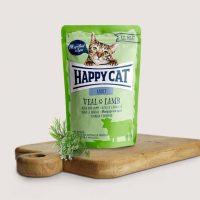 Happy Cat Adult с телешко и агнешко -85гр.
