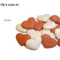 Бисквити мини сърчица с вкус на ягода от Animal Lovers, Холандия 100 гр кутийка